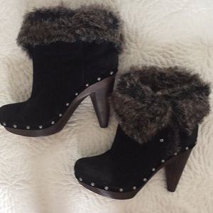 Seychelles Cryptic faux fur trimmed booties Sz 10